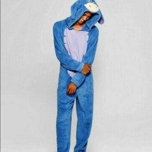 Disney Adult Eeyore One Piece Pajama Costume